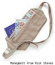 Wear a money belt